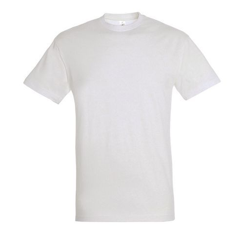 T shirt unisexe col rond blanc s