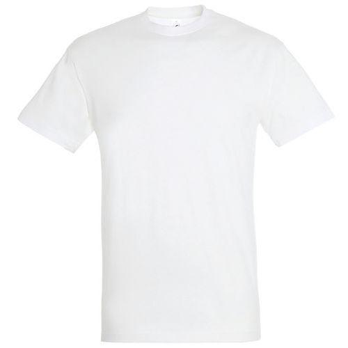T shirt unisexe col rond blanc xxl