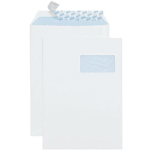 Pochette vélin blanc 90 g - Avec fenêtre