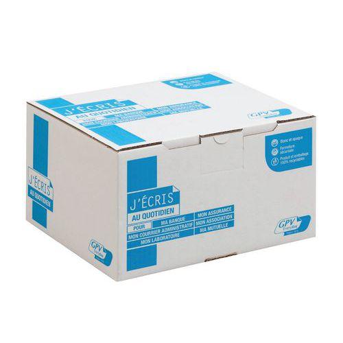 Enveloppe blanche 90 g - Boîte de 500