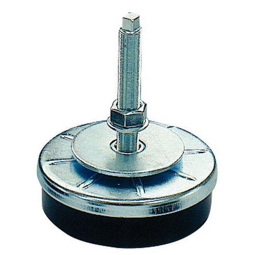 Support antivibratoire à pas fin pour charges moyennes à lourdes - Tige acier galvanisé - Taille filetage M12