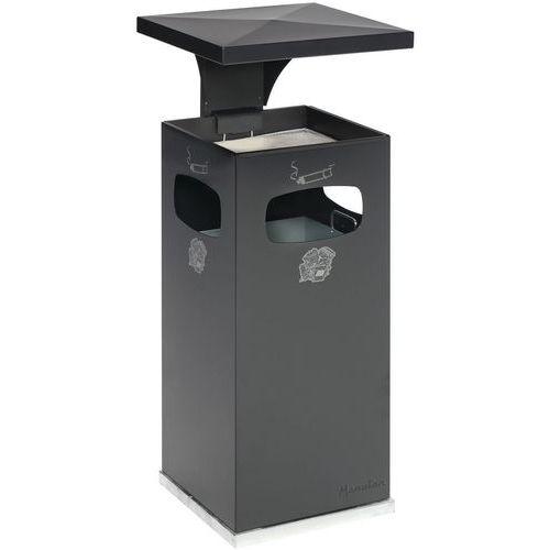 Cendrier et poubelle usage intérieur et extérieur 38 L - Manutan
