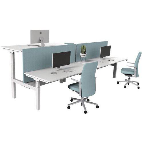 bureau droit bench lectrique 2 places kelli. Black Bedroom Furniture Sets. Home Design Ideas