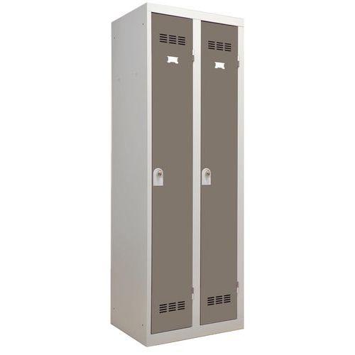 Vestiaire industrie propre - Largeur 300 mm - 2 colonnes - Vinco