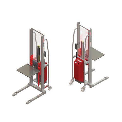 Gerbeur GR semi-électrique avec plateau inox - Capacité 300kg