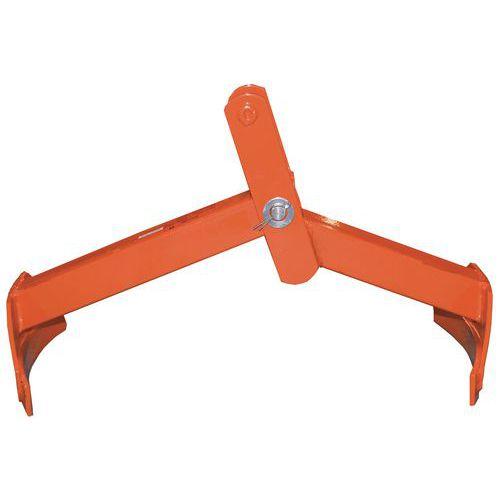 Pince pour fût vertical et horizontal à 2 bras - Force 350 kg