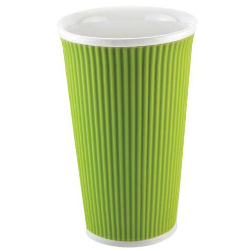 Mug 45 cl thermo protecteur Vert ondulé Les Artistes