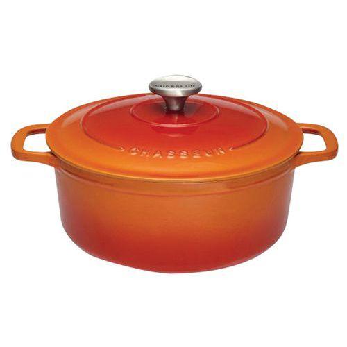 Cocotte en fonte ronde 32 cm Orange Sublime Chasseur