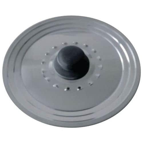 Couvercle inox avec trou vapeur diamètre 22 et 26 cm