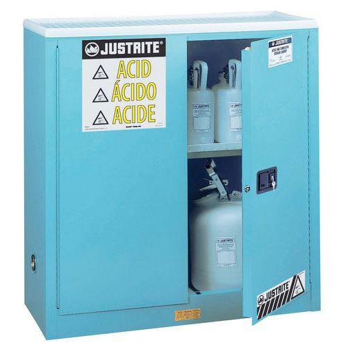 Armoire de sécurité pour produits corrosifs - Capacité de stockage 114 L
