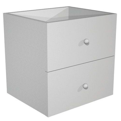 Tiroirs pour meuble de rangement Maxicube - Aluminium/Hêtre - lot de 2