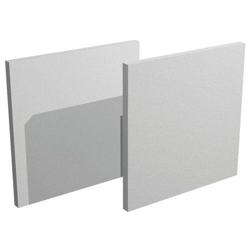 Jeux de 2 fond Maxicube - Aluminium/Hêtre