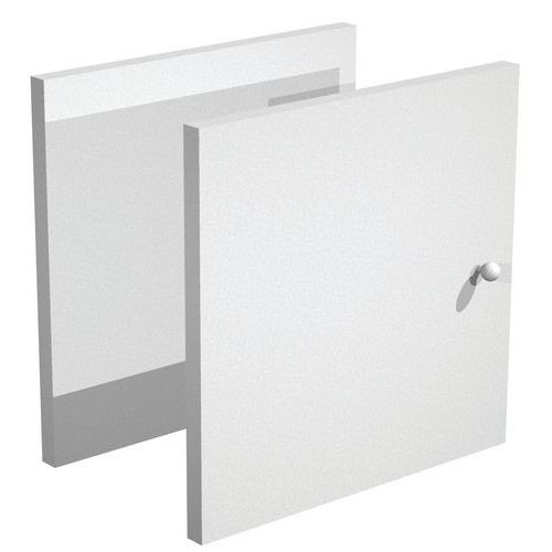 Porte pour meuble de rangement Maxicube - Aluminium/Hêtre - lot de 2
