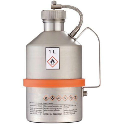 Bidon de sécurité inox - Capacité 1 à 5 L