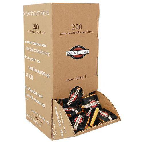 Carré chocolat noir - 200 unités - Café Richard