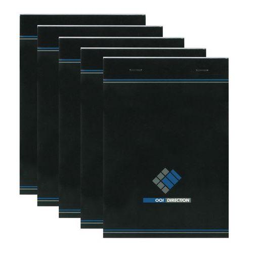 Bloc de bureau agrafé 001 Direction  A5 - 200 pages - 70 g - Petits carrreaux - Lot de 5