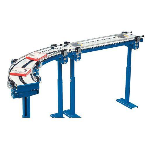 Micro convoyeur gravitaire - À rouleaux PVC Ø 20 mm longueur 150 mm