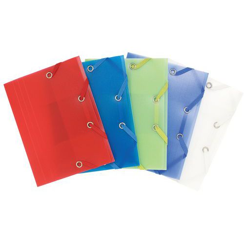 Chemise à élastique 3 rabats pp chromaline pocket 12x16cm