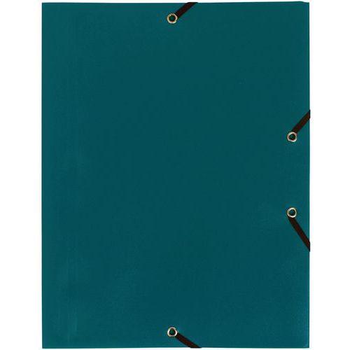 Chemise à élastique 3 rabats PP 4/10e opaque eco A4