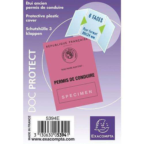 Sachet de 10 étuis de protection 3 volets pvc lisse 15/100e