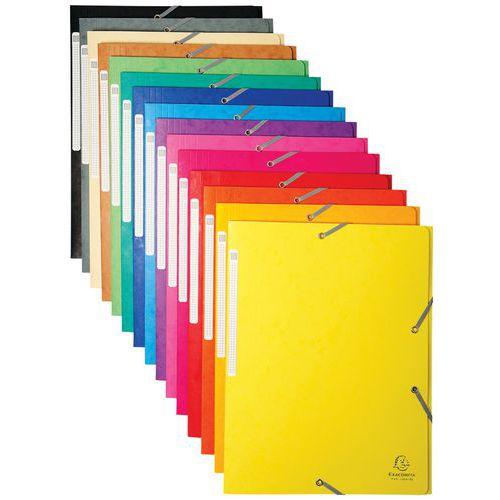 Chemise à élastiques maxi capacity carte lustrée 425gm²  A4
