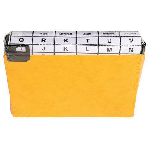 Paquet 24 guides alphabétiques à onglet pour fiche 105x150mm
