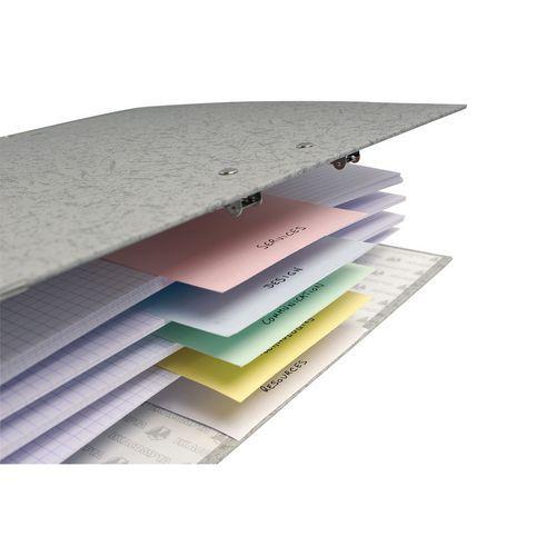 Paquet 100 fiches intercalaires perforées 105x240mm