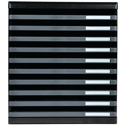 Modulo a4 10 tiroirs ouverts ecoblack