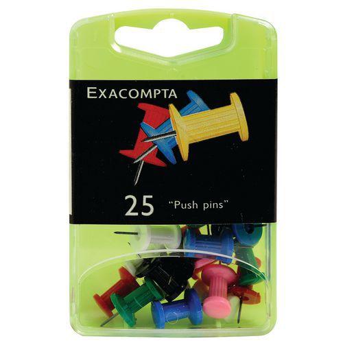 Boîte de 25 épingles push pins hauteur de pointe 7mm