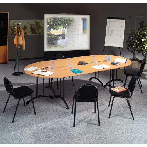 Table modulaire pliante - Piètement noir