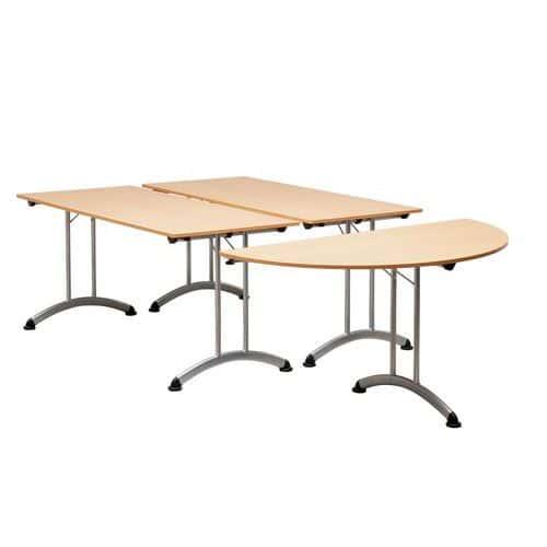 Table modulaire pliante - Piètement alu