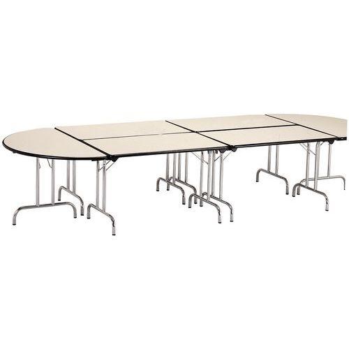 table modulaire pliante pi tement chrom demi cercle manut. Black Bedroom Furniture Sets. Home Design Ideas