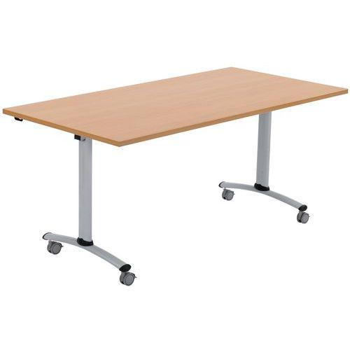 Table mobile à plateau rectangulaire pliant - Hêtre