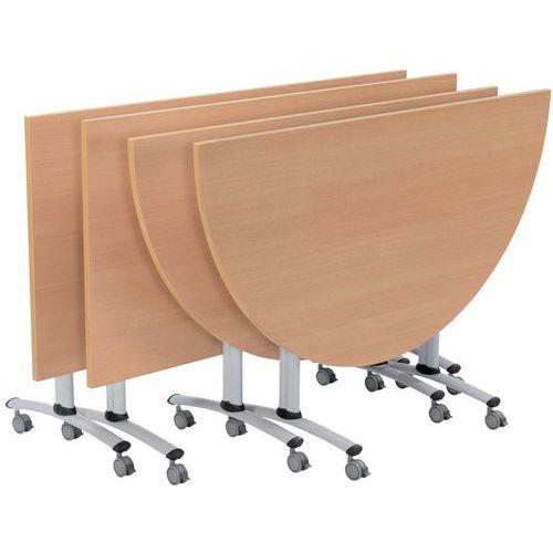 table de r union en demi cercle pliante. Black Bedroom Furniture Sets. Home Design Ideas