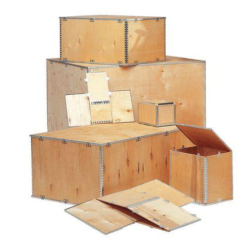 Caisse en bois expak longueur 600 800 mm for Caisse de rangement exterieur