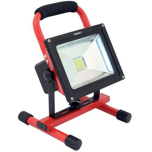 projecteur de chantier rechargeable led 20w velamp. Black Bedroom Furniture Sets. Home Design Ideas