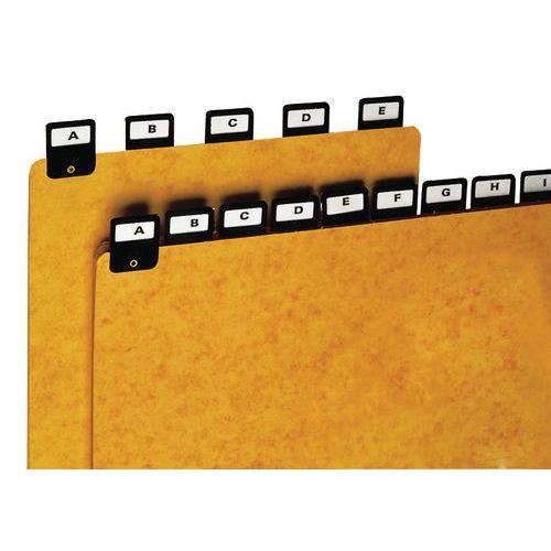 Intercalaire à onglet - Indexage en largeur