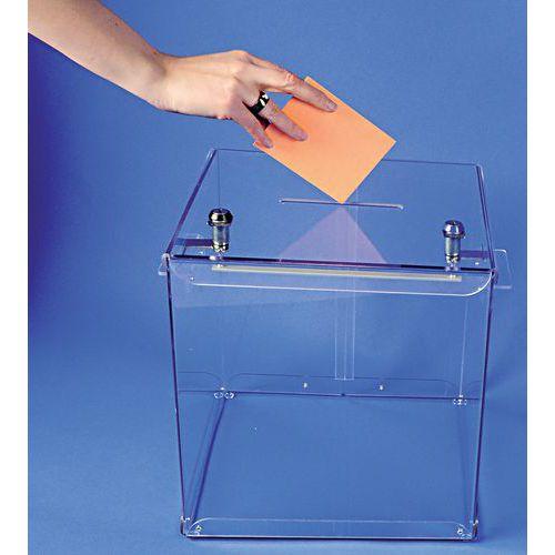 Urne électorale transparente - 600 bulletins