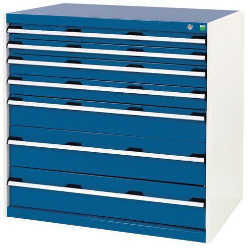 Armoire d'atelier à tiroirs Bott SL-107 - Hauteur 100 cm
