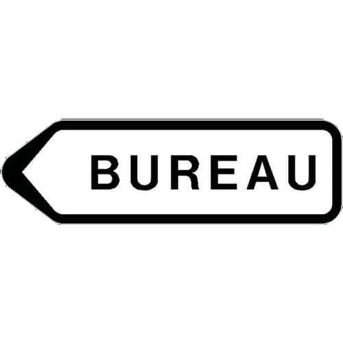 Panneau Directionnel Grande Hauteur Standard Bureau Longueur 800 Mm Manutan Fr