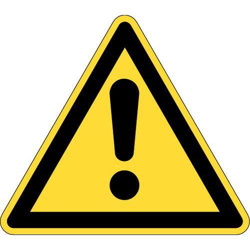 Panneau de danger adhésif- Danger général