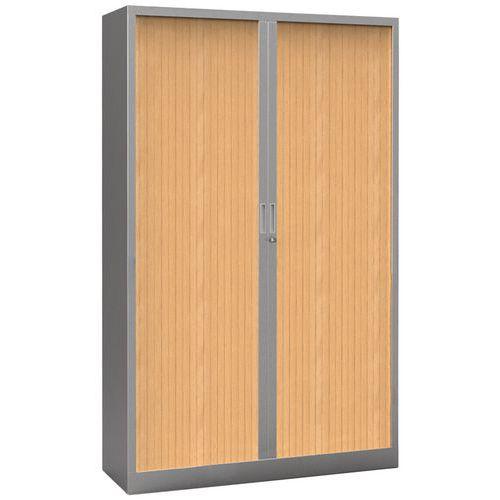 Armoire à rideaux Premium bicolore - Hauteur 198 cm