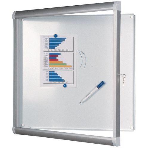Vitrine d'intérieur Design - Fond aluminium - Porte en verre de sécurité