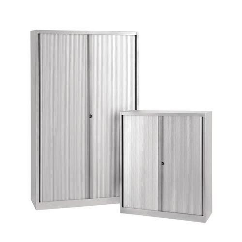 Armoire à rideaux - Sans plateau supérieur - Gris aluminium