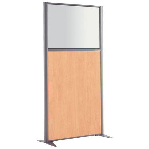 Cloison de s paration kp m lamin avec verre hauteur 160 cm for Cloison de separation