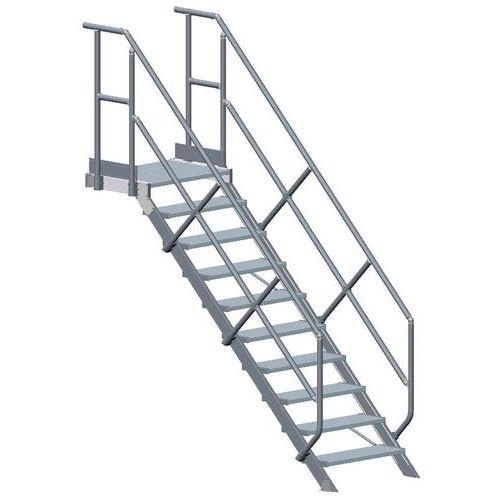 escalier plate forme et main courante tubesca. Black Bedroom Furniture Sets. Home Design Ideas