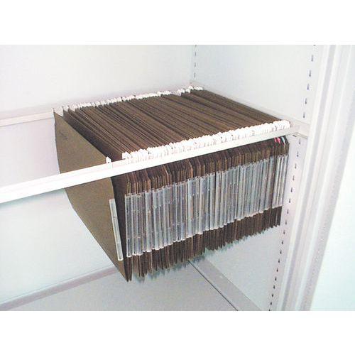 Système latéral pour dossiers suspendus pour armoire à archives ignifuge