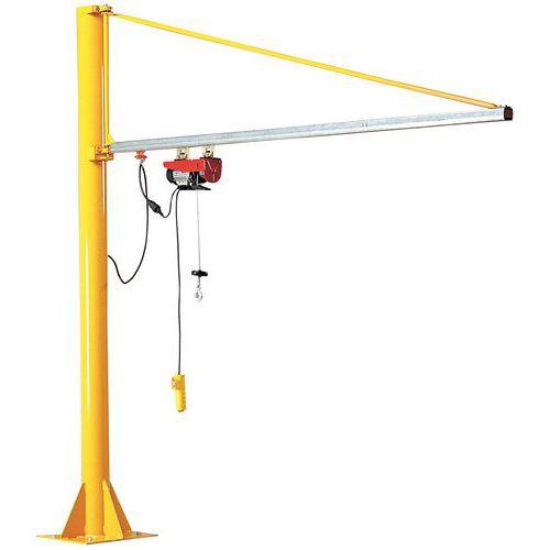 Potence à flèche triangulée sur fût - Force 20 à 100 kg