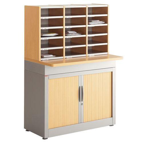 Module de tri du courrier sur armoire 3 colonnes for Courrier du meuble