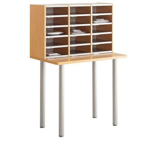 Module de tri du courrier - Sur table - 3 colonnes